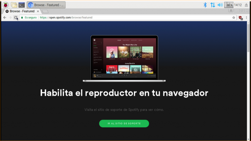 Error de DRM en Spotify web