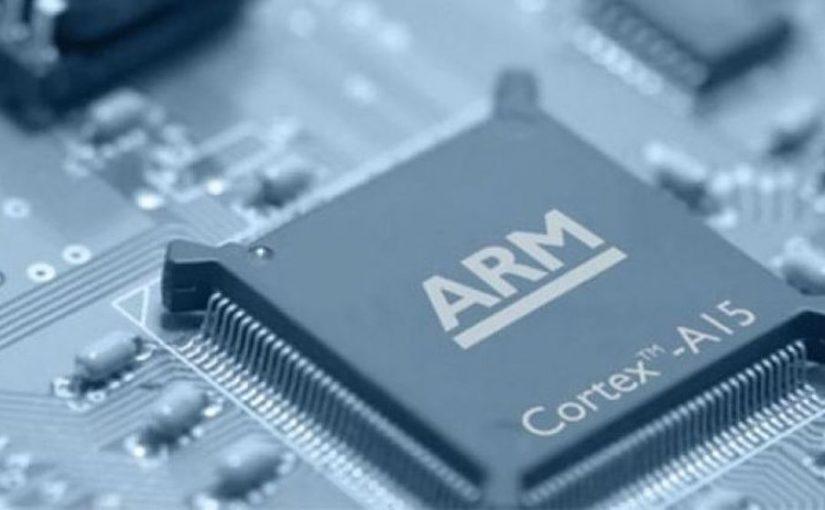 Imagen de un chip ARM