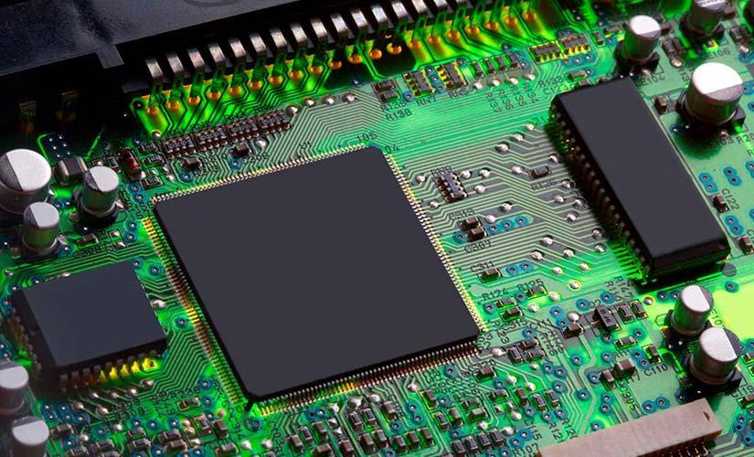 Imagen de un circuito integrado
