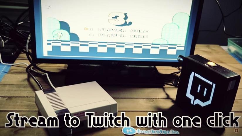 Emisor de Twitch funcionando con una NES classic mini