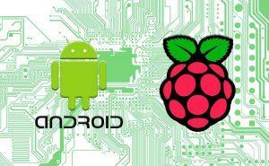 Logos de Android y Raspberry Pi