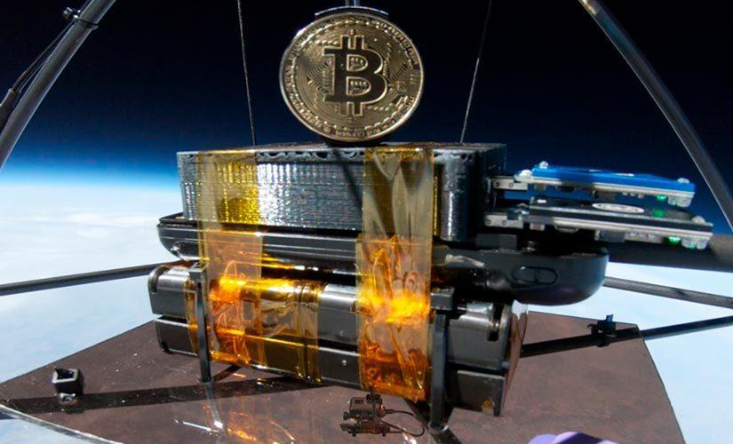 Space Miner One minando Bitcoin en el expacio