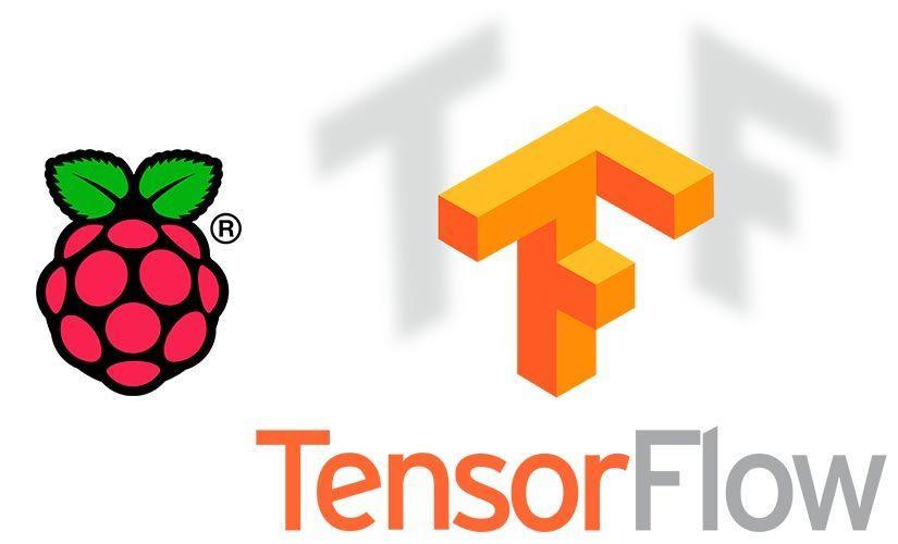 Imagen con los logos de TensorFlow y Raspberry Pi