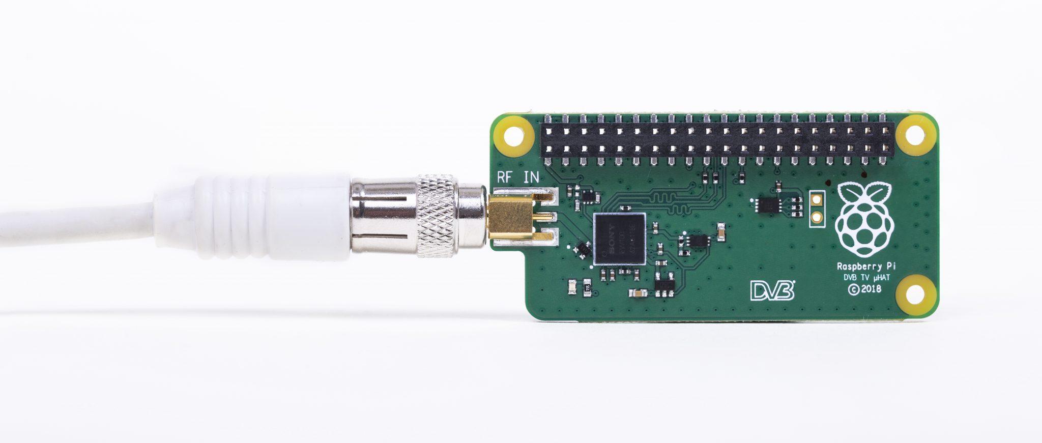 Sintonizador de TDT Raspberry Pi TV HAT