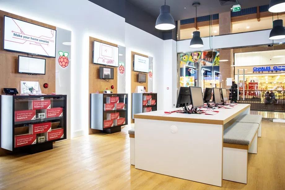 Imagen de la tienda física de Raspberry Pi