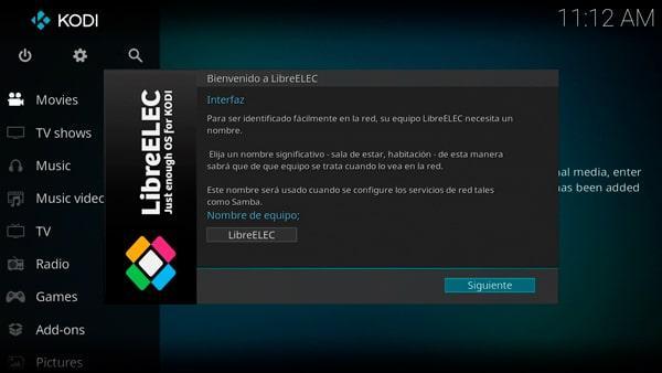 Cambio del nombre del equipo en LibreELEC
