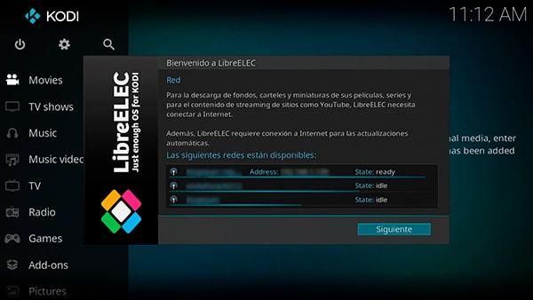 Conexión a la wifi del usuario desde LibreELEC