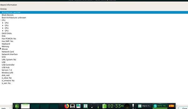 Información de hardware de Raspberry Pi en openSUSE