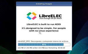 PINN terminando de instalar LibreELEC en Raspberry Pi-min