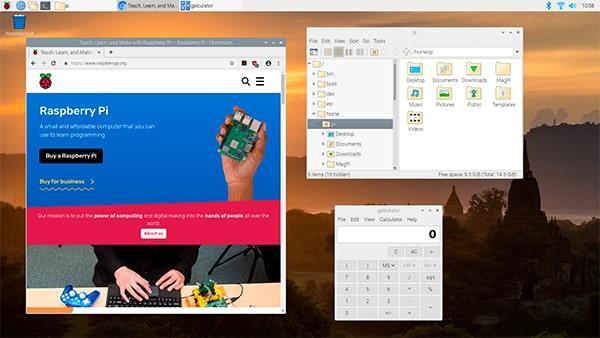 Raspbian basado en Debian 10 Buster corriendo en una Raspberry Pi 4