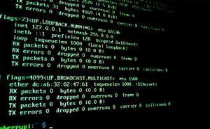 Comando ifconfig lanzado en la consola para conocer la IP de la Raspberry Pi
