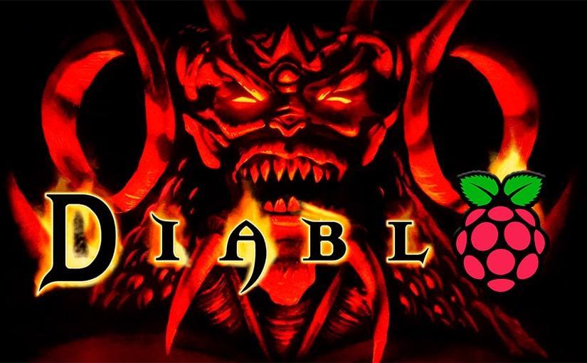 Imagen de Diablo con el logo de Raspberry Pi