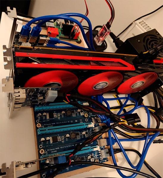 AMD 7990 conectada a una Raspberry Pi 4