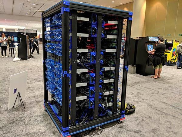 El superordenador de Oracle creado con 1060 Raspberry Pi