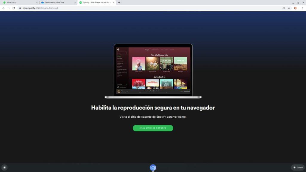 Error de Spotify en FydeOS