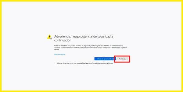 Error de certificados al realizar la conexión remota a la Raspberry Pi a través de Webmin