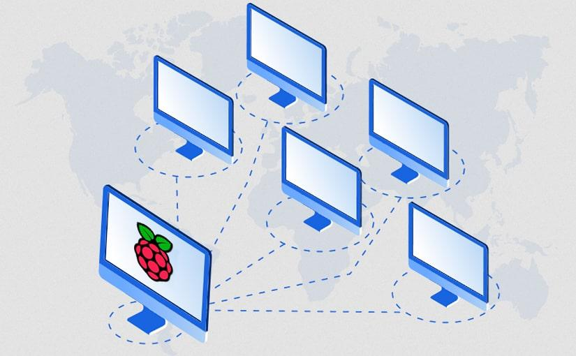 Imagen de conexion Remota de Raspberry Pi a otros ordenadores en red local