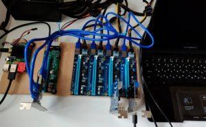 Raspberry Pi 4 con varios puertos PCI express