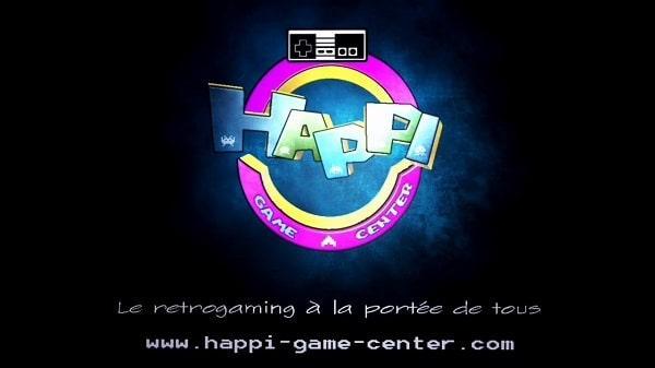 Pantalla de inicio de Happi Game Center