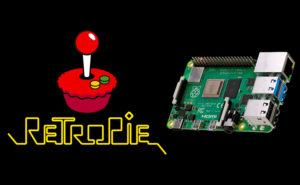 Logo de RetroPie con una Raspberry Pi 4