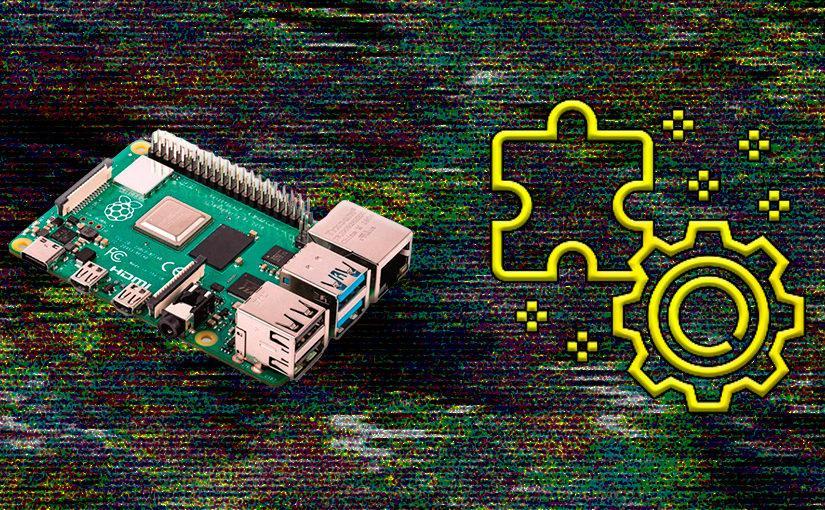 Raspberry Pi 4 con iconos de error