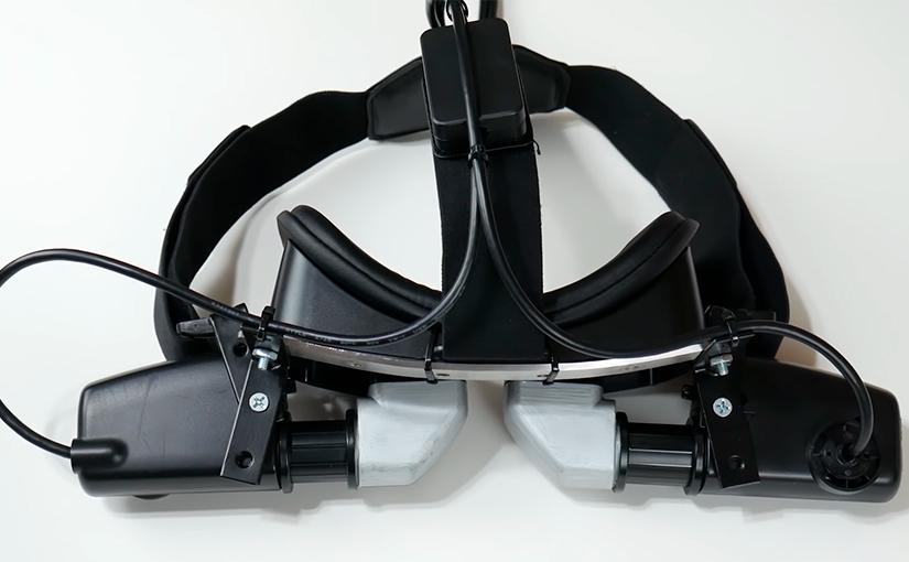 Imagen del casco de realidad virtual que funciona con una Raspberry Pi 4