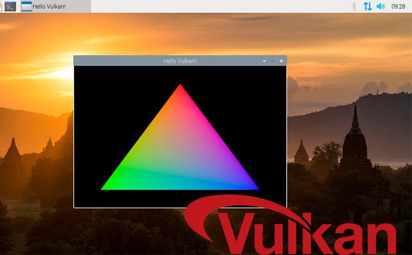 Primera prueba de Vulkan en Raspberry Pi