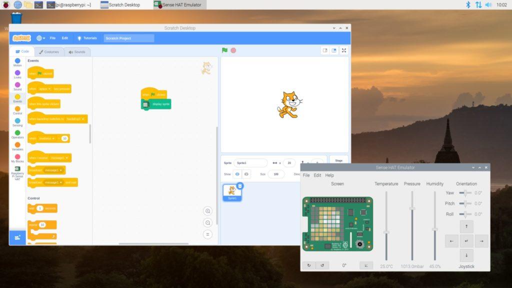 Trabajando con Scratch y el SenseHAT de Raspberry Pi
