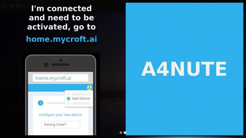 Asociando KDE Plasma Bigscreen a tu cuenta de mycroft