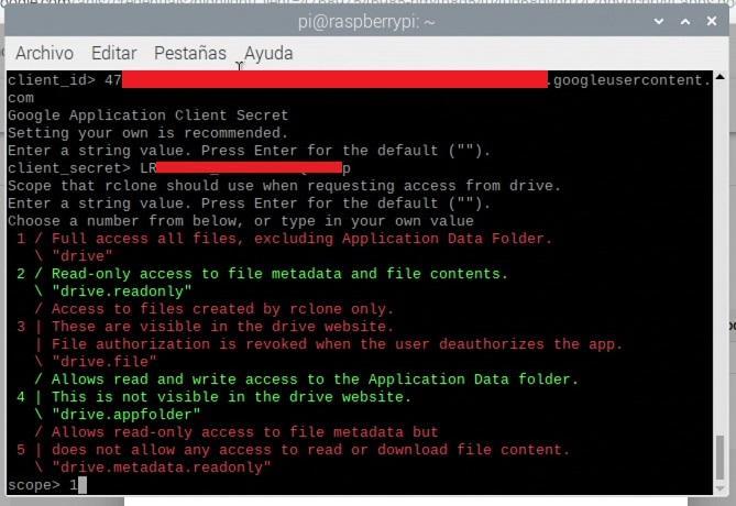 Comportamiento de Rclone a la hora de trabajar con Google Drive