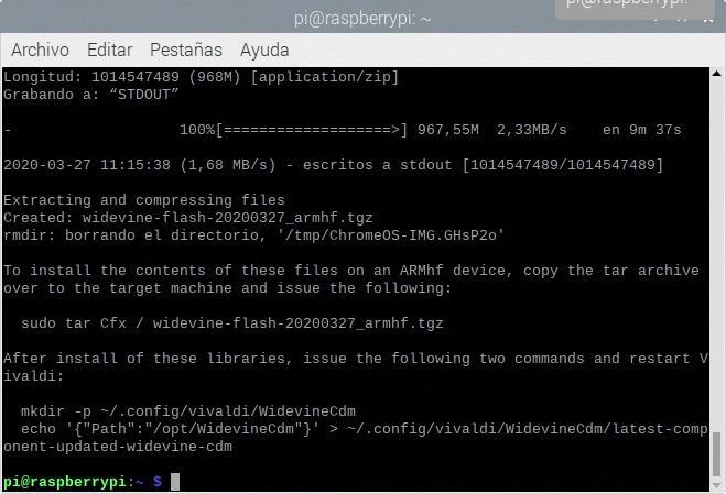 Descargando las librerias de WideVine necesarias para reproducir contenido con DRM en nuestro navegador