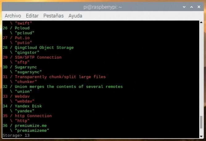 Listado de sistemas compatibles con rclone