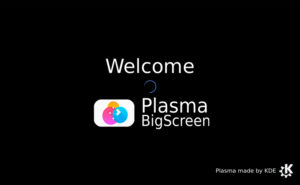 Pantalla de carga de KDE Plasma Bigscreen