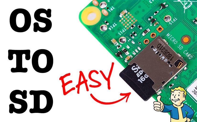 Raspberry Pi con una tarjeta insertada