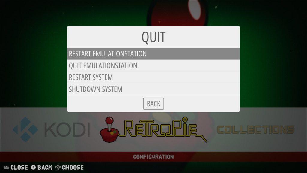 Reiniciando EmulationStation
