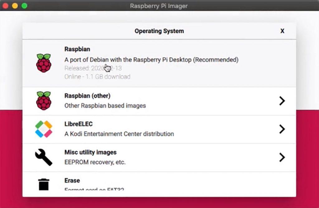 Sistemas operativos para instalar con Raspberry Pi Imager