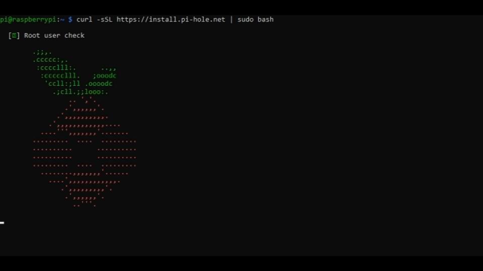 Ejecutando el script de instalación de Pi-hole