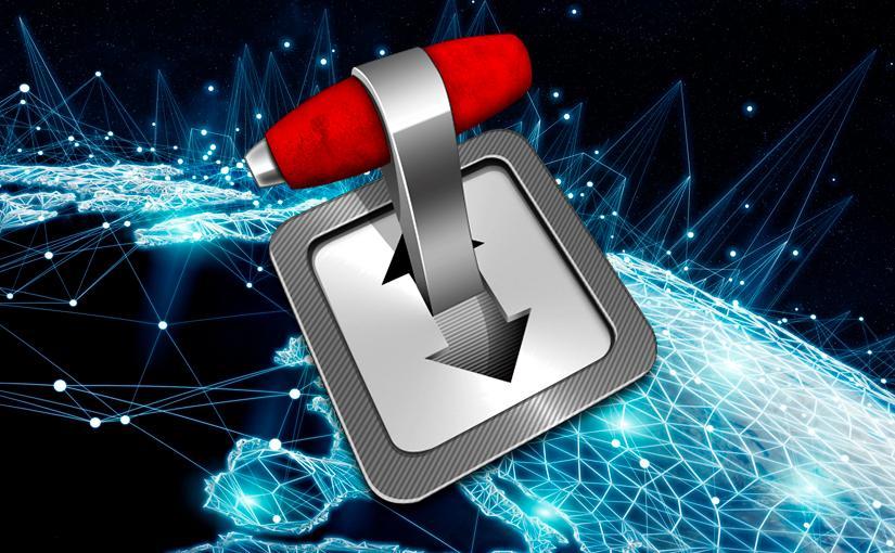 Icono de Transmission sobre fondo que representa las conexiones de los paises por internet