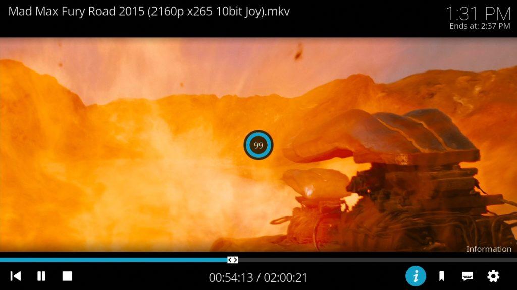 Reproduciendo una Película en 4K con Kodi en Batocera 5.26