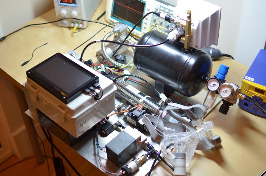 Respirador construido con una Raspberry Pi