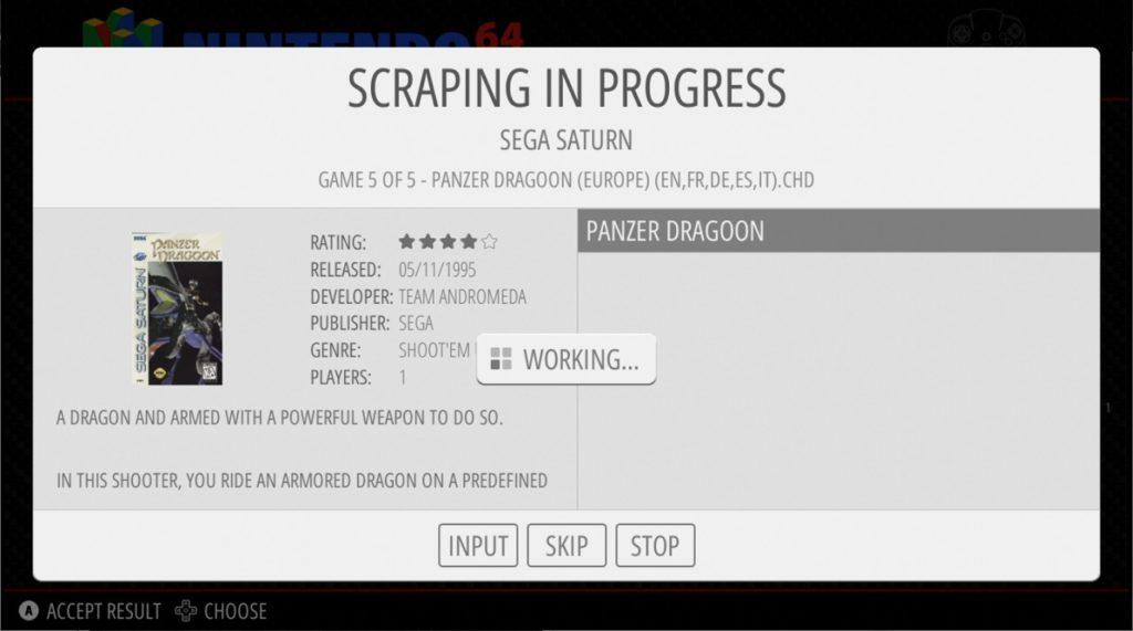 Scrapeando juegos con RetroPie 4.6