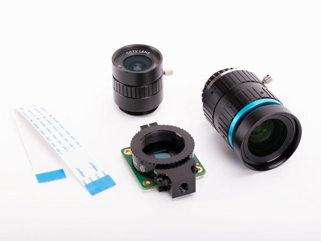 High quality camera para Raspberry Pi con gran angular y teleobjetivo