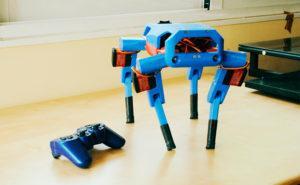 Imagen del perro-robot creado con una Raspberry Pi y Arduino