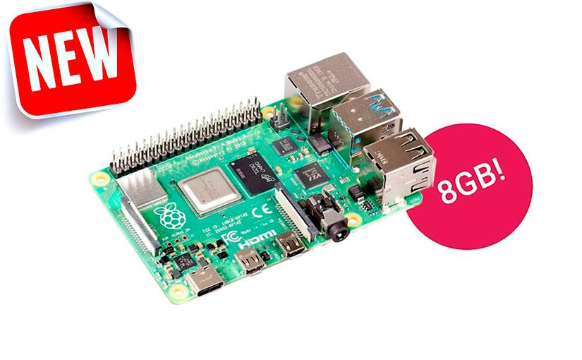 La Raspberry Pi 4B con 8GB de RAM ya está entre nosotros