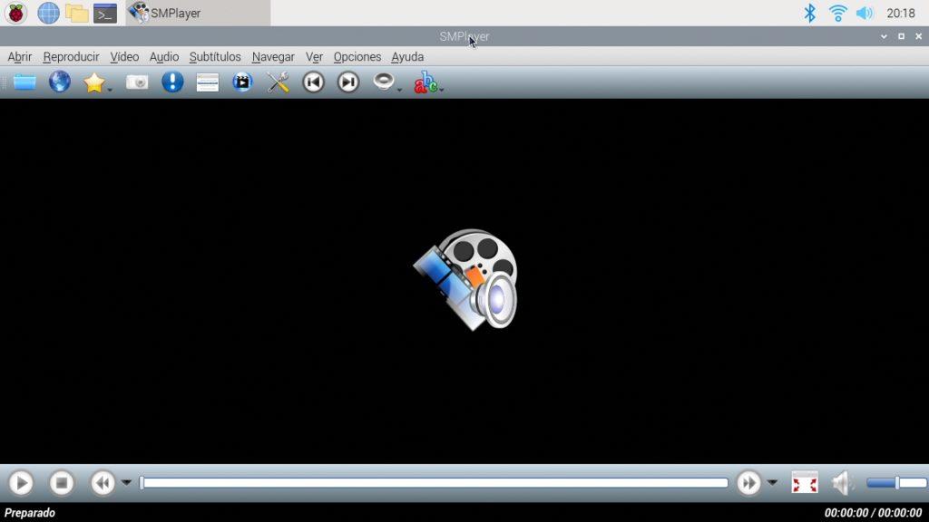 SMPlayer funcionando en una Raspberry Pi