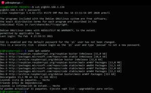 Apt update con los repositorios de microsoft en Raspberry Pi OS